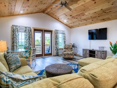 Photo for Trout House: Shared Heated Pool, Bay Views, Fire Pit, In Town, Pet Friendly