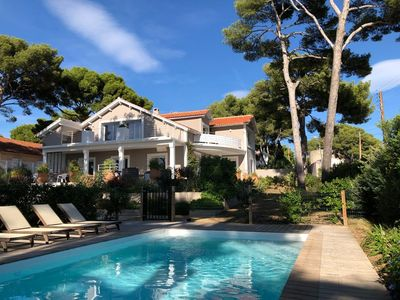 Photo for MAGNIFICENT SEA VIEW VILLA WITH POOL: VILLAGE, PORT AND BEACH NEARBY / 12 PERS.