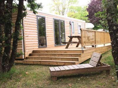 Photo for Camping Fontaine Du Roc *** - 4 room luxury bungalow 6 persons