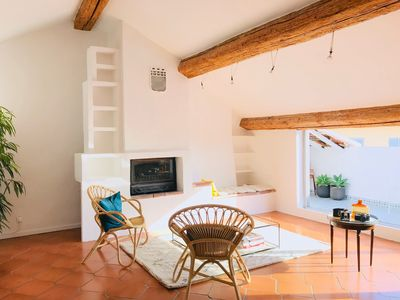 Photo for T4 Toulon-Mourillon.  Beach and market down the street! 6 real beds