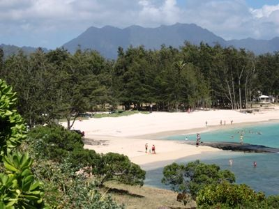 view of kailua beach from alala point