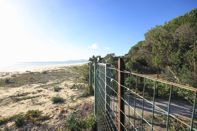 private gate on the beach