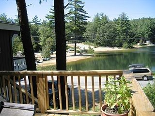 View from the deck of Boulder Beach and Little Pea Pond.