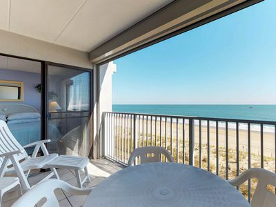 Photo for Oceanfront fun with a furnished balcony, fantastic view, and a shared pool