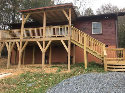 Photo for New Listing! on 12 Acres w/Hot Tub Right off the Blue Ridge Pkwy! Pastoral Bliss
