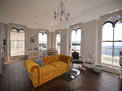 Photo for Luxurious 2 bed apartment with balcony and spectacular sea views
