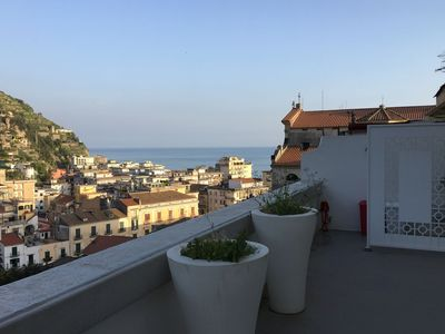Photo for Modern apartment with stunning views, situated on the fascinating Amalfi coast