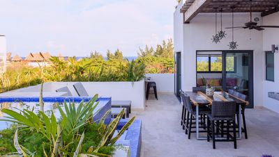 Photo for Terrazas PH @street38: gorgeous rooftop w/ private pool!