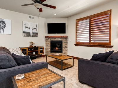 Photo for Updated 2BR Condo w/ Fireplace Near Skiing – Private Garage