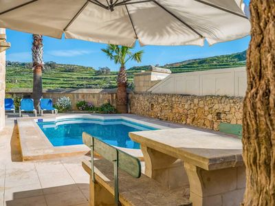 Photo for Countryside villa w/ free A/C & pool.