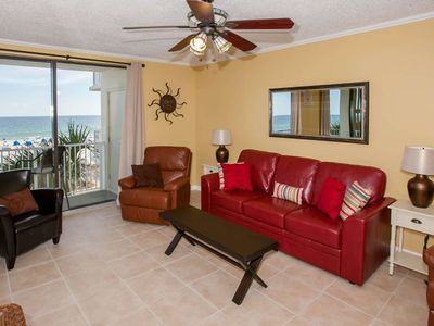 Photo for Remodeled Gulf-Front 3/2, Slps 9, Blcny, W/D, Pool/Kids Pool/Hot Tub, Free Activities-Shoalwater 302