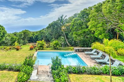 Your West Indies retreat begins at this tropical home in Gingerland!