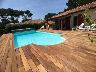 Photo for Sandy Feet Villa - beautiful home with Heated Pool 800m to beach