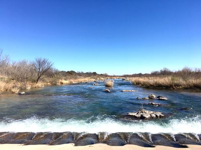 Photo for Llano River Front With Huge Covered Patio in the Texas Hill Country