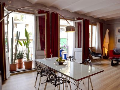 Photo for Sunny Balcony Loft at quiet Poble Sec Barrio, 5 Min to La Rambla