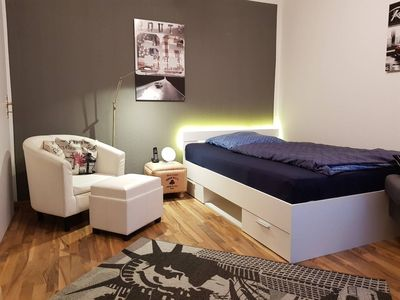 Photo for Modern one-room apartment with shower room and kitchenette