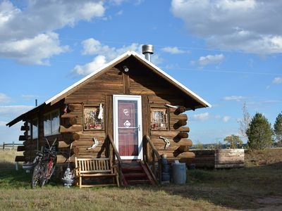 Photo for Historic Private Mountain Log Cabin (Sauna, Hot Tub, Fire Pit!)