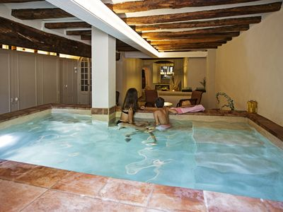 Photo for The Vidrier, charming apartment, heated pool, garden, WIFI, center