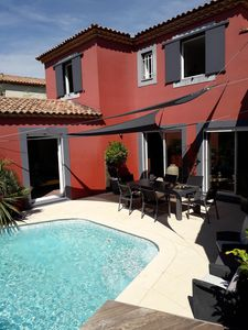 Photo for SPACIOUS CONTEMPORARY VILLA WITH HEATED SWIMMING POOL, BETWEEN SEA AND MONTPELLIER