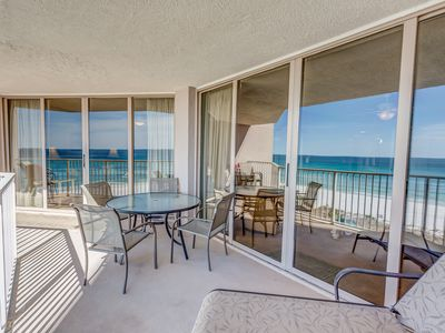 Photo for FREE BEACH SERVICE!   BEACHFRONT- GULF VIEWS FROM MASTER -  READ REVIEWS!