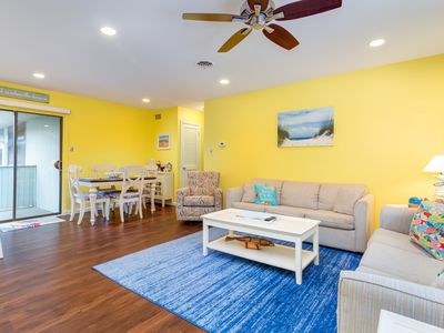 Photo for NEW LISTING! Renovated canal-view condo w/balcony, foosball & pool-walk to beach