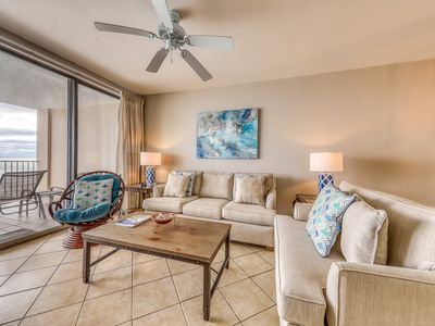 Photo for Family-friendly beachfront condo w/shared hot tub, indoor/outdoor pools, & more!