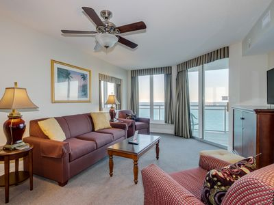 Photo for Spacious oceanfront, corner end unit, in secured building w/several amenities