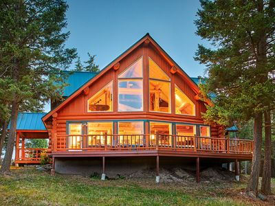 Photo for Secluded & Convenient Glacier-View Log Home on 15 Acres  Fully Updated 3BR/2Bath