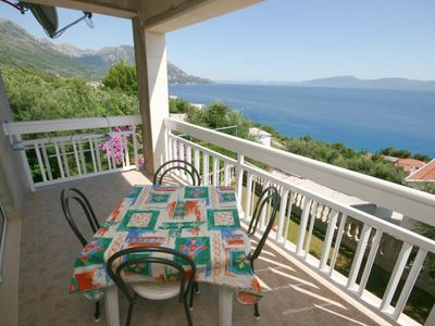 Photo for Studio flat with terrace and sea view Podaca, Makarska (AS-6736-a)