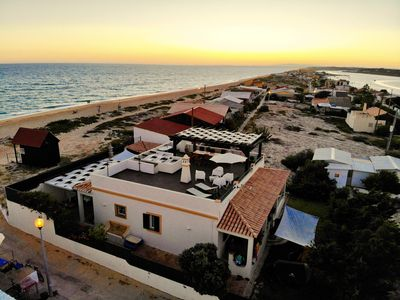 Photo for Beach Villa on the Dunes Faro Beach with big Kayak and 2 Bicycles