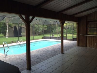 Photo for Old Florida Charm. Idyllic Private Large River Front House w. Screened-in Pool