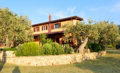 Photo for VILLA BETWEEN THE OLIVE TREES: • 6bagni • WiFi • AC • large garden • sea view • veranda • BBQ
