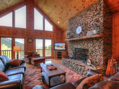 Photo for 4BR Cabin, Views, Hot Tub, Pool Table, Fire Pit, Great Location, Pet Friendly!