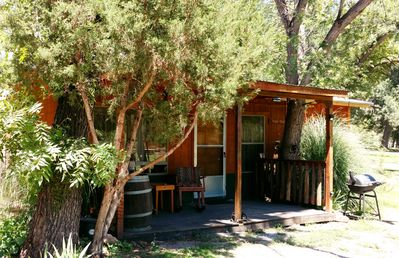 Photo for Hideout Cabin With Covered Deck, Sunny New Mexico!