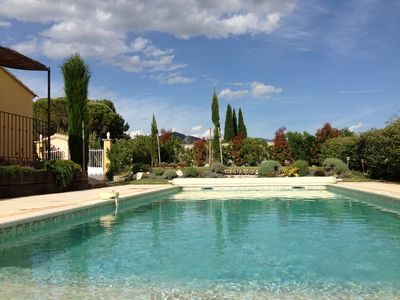 Photo for New house for rent with pool - Provence - Beaumes de Venise - Ventoux view