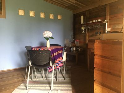 Photo for Cabañita El Cedro - Rustic and comfortable 200 meters from the main road - Volcan
