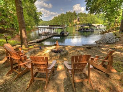 Photo for Surround yourself with tall pines and serene sounds of nature and Lake Blue Ridge