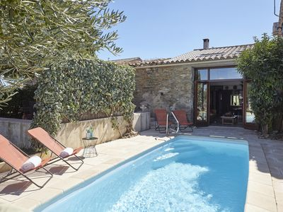 Photo for LUXURY WINEMAKER'S COTTAGE, CANAL DU MIDI, HEATED POOL, AIR CON near CARCASSONE