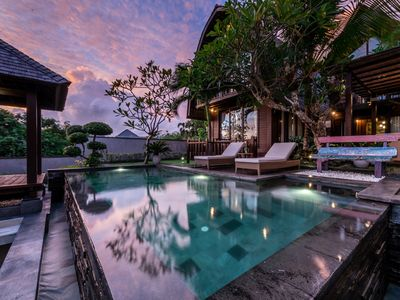 Photo for An Elegant 3BR Private Wooden Villa with a Private Swimming pool at Jimbaran.