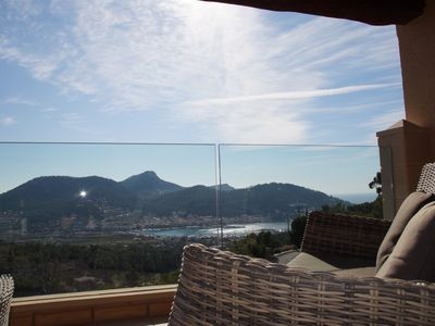Photo for Mediterranean villa with stunning views, pool and fantastic sun terrace