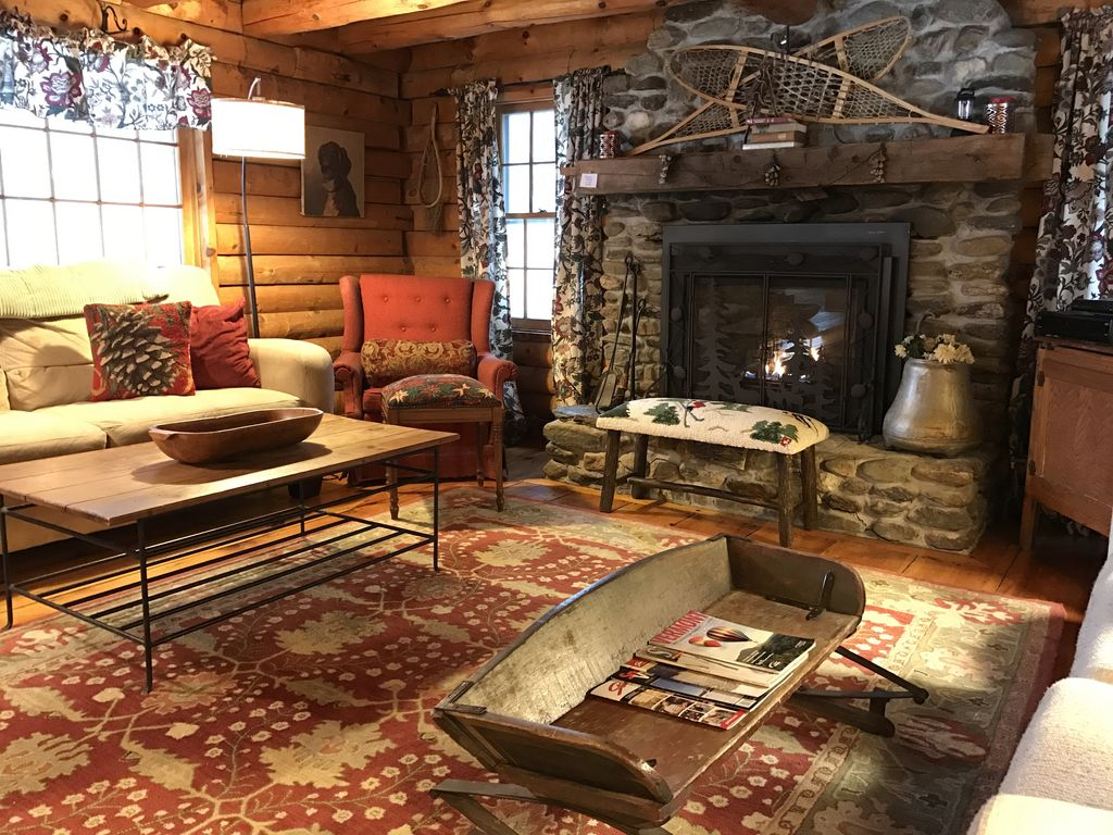 stowe log cabin private 5 acres homeaway stowe