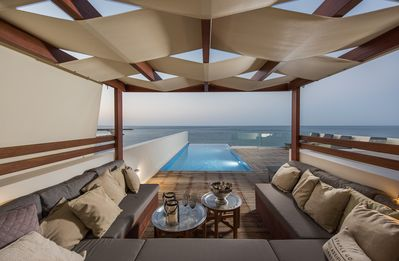 Photo for CELESTINE, water-front villa with roof top pool and spectacular views.