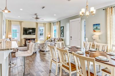 Sea Escape offers a great open floor plan for guests to gather and enjoy.