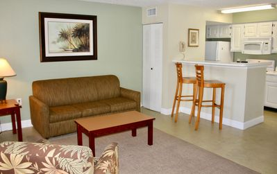 Photo for Peaceful 1BR/1BA Paradise, Pool, BBQ, Tennis, Free Shuttle to Parks, Parking