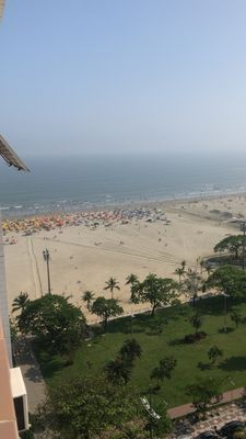Photo for Apartment service entrance av. from the beach at Gonzaga. Windows sea view !!!