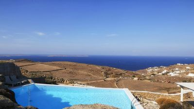 Photo for Boasting some of the best views on the island, Villa Theta is a stunning, modern property, just wait