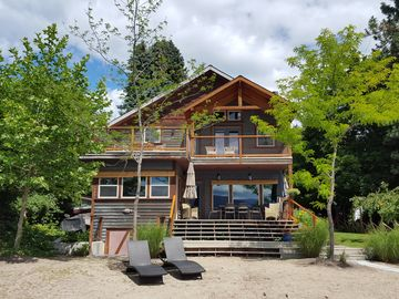 Naramata Village Lakefront - Spacious Home with private beach and dock