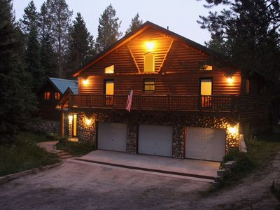 Photo for Luxury Water Front Cabin On Island Park Reservoir With Private Bay And Dock