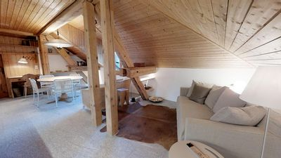 Photo for Beautiful and charming 3-room apartment in the attic of a detached house.