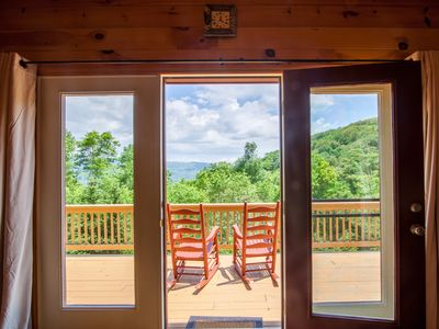 Photo for 4BR/3BA Log Cabin Close to Banner Elk, Hot Tub, Pool Table, Amazing Mountain Views, Fire Pit, King Suite on the Main Floor, Multiple Fire Places